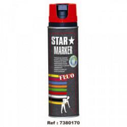 Peinture de marquage temporaire Rouge fluo 500 mL de marque OUTIFRANCE , référence: B1704900
