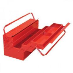 Boîte à outils en métal 5 compartiments 430 x 200 x 200 mm de marque OUTIFRANCE , référence: B1710400