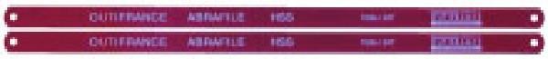2 lames de scie à métaux HSS (12 dents / pouce)