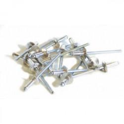 25 rivets alu / acier à tête large Ø 4,8 x 25 mm de marque TECHMAN, référence: B1723800