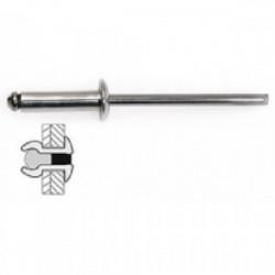 75 rivets acier / acier à tête plate Ø 4 x 10 mm de marque TECHMAN, référence: B1726400