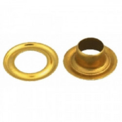 25 oeillets laiton Ø 8 mm de marque TECHMAN, référence: B1730200