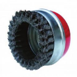 Brosse métallique rotative Ø 100 mm à fils ondulés de marque OUTIFRANCE , référence: B1743900