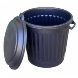 Poubelle polypro 80 L noire de marque OUTIFRANCE , référence: J1748100