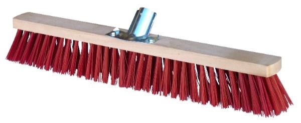 Balai de piste en PVC rouge (Ø emmanchement 28 mm) sans manche