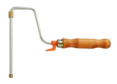 Monture de rouleau à vis manche bois 180 mm