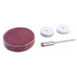 Pâte à polir + 1 feutre + porte-disques roue Ø 22 mm de marque MAXICRAFT, référence: B1790500