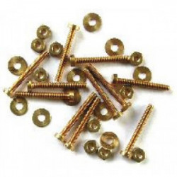 10 vis (10 mm) + 10 rondelles + 10 écrous Ø 1,6 mm de marque MAXICRAFT, référence: B1801700