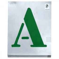 Jeu de lettres vignettes à jour 70 mm de marque OUTIFRANCE , référence: B1804100