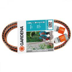 Kit de branchement d'arrosage : Tuyau Flex 1,5m + raccords de marque GARDENA, référence: J1886500