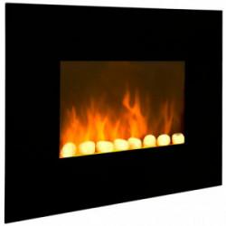 """Cheminée électrique décorative """"Black Fire"""" de marque CHEMIN'ARTE, référence: B2385100"""