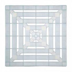 Caillebotis plastique - Blanc translucide 56 x 56 cm de marque GALEDO, référence: B2390500