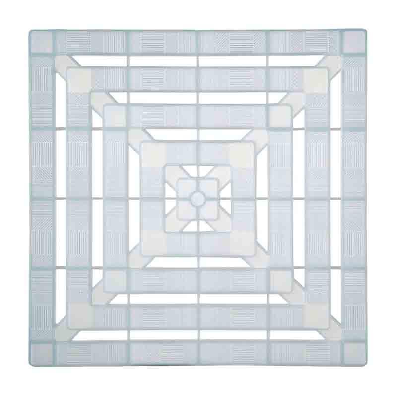 Caillebotis plastique - Blanc translucide 56 x 56 cm