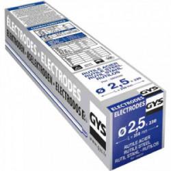 230 Electrodes traditionnelles acier rutile Ø2,5 mm de marque GYS, référence: B2426000