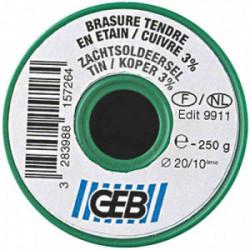 Fil étain/cuivre 250 g de marque GEB, référence: B2586500