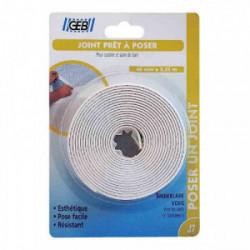 Joint d'étanchéité préformé 40 mmx 3,35 m - Blanc de marque GEB, référence: B2587200
