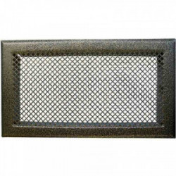 Grille de cheminée avec précadre 345 x 195 mm couleur laiton de marque Dmo, référence: B2597200