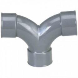 Coude double à 87°30 femelle/femelle/femelle Ø 32 mm de marque GIRPI, référence: B2642000