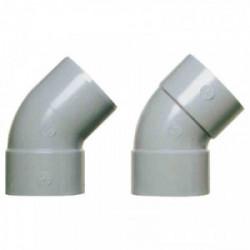 Coude d'évacuation à 45° mâle/femelle Ø 80 mm de marque GIRPI, référence: B2643800