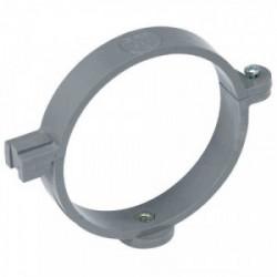 Collier à charnière pour tuyau d'évacuation Ø 80 mm gris de marque GIRPI, référence: B2652700