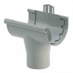Gouttière PVC - Naissance à coller Ø 25 gris de marque GIRPI, référence: B2662500