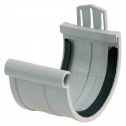 Jonction de gouttière PVC gris toiture inf. à 30m2 - gris de marque GIRPI, référence: B2663400