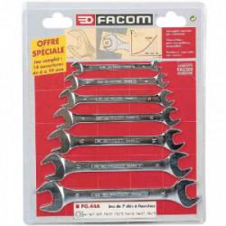 Jeu de 7 clés double fourche de marque FACOM, référence: B2793500