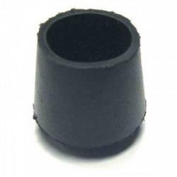 Embout de meuble caoutchouc noir Ø 34 mm - Lot de 20 de marque STRAUSS, référence: B3199400
