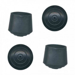 Embout de meuble caoutchouc noir Ø 12 mm - Lot de 8 de marque PVM, référence: B3199600