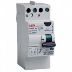 Interrupteur différentiel 30mA 40A type AC de marque AEG, référence: B3300700