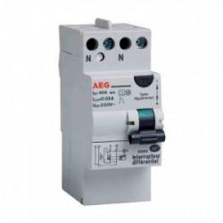 Interrupteur différentiel type A avec borne étagée - 40A de marque AEG, référence: B3300800