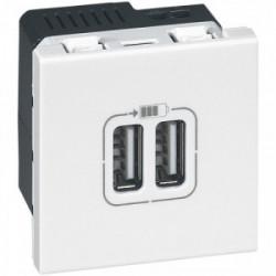 Mosaïc prise chargeur double USB 1500mA de marque LEGRAND, référence: B3312800