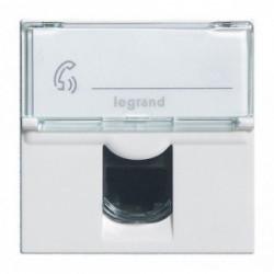 Prise RJ45 informatique téléphone 2 modules à composer mosaic de marque LEGRAND, référence: B3314500
