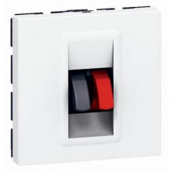 Mosaic prise haut-parleur 2 modules mécanismes de marque LEGRAND, référence: B3315000