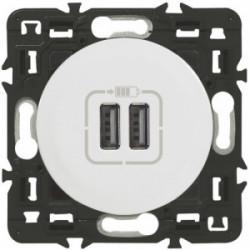 Celiane double USB blanc de marque LEGRAND, référence: B3325300