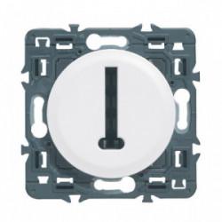 Celiane prise téléphone 8 contacts en T blanc à composer de marque LEGRAND, référence: B3325700
