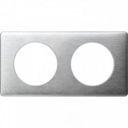 Celiane plaque 2 postes aluminium de marque LEGRAND, référence: B3331200
