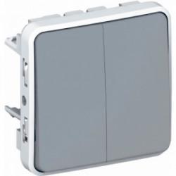 Plexo double va et vient gris mécanisme de marque LEGRAND, référence: B3332900