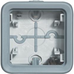 Plexo boîtier 2 postes horizontals composable gris legrand de marque LEGRAND, référence: B3333500