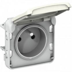Plexo prise 2 pôles + terre blanche mécanisme de marque LEGRAND, référence: B3334000