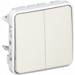 Plexo double va et vient blanc mécanisme de marque LEGRAND, référence: B3334100