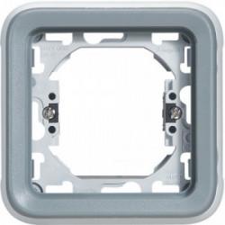 Plexo support 1 poste à griffe composable blanc plaque support 1 poste de marque LEGRAND, référence: B3334500
