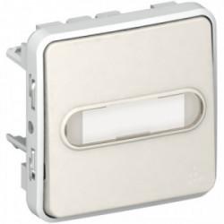 Plexo poussoir étiquette lumineux blanc mécanisme de marque LEGRAND, référence: B3334700