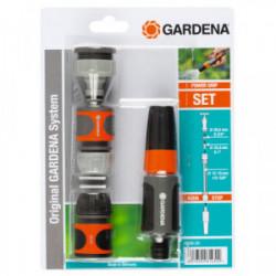 Nécessaire de base 15 mm pour robinet 20/27 et 26/34 et tuyau Ø 13 - 15 mm de marque GARDENA, référence: J3394400