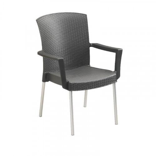 Grosfillex Salon de jardin PVC - table et 6 fauteuils \