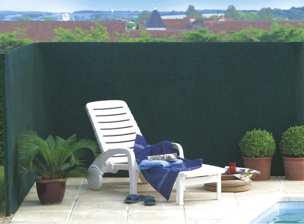 Brise vue vert en maille plastique 100% occultant 1,5 x 25 m TANDEM