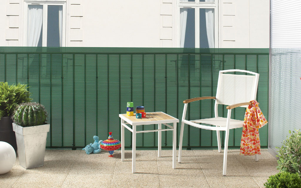 Brise-vue plastique vert 85% occultant 1,2 x 5 m TRIONET