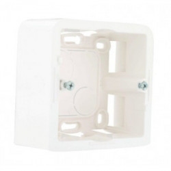 Cadre blanc sans support VG 40mm 2 modules de marque LEGRAND, référence: B3497400