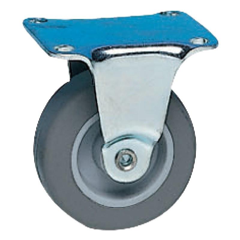 Roulette Mini Roll à platine fixe 54 x Ø 42 mm - Portée 15 Kg