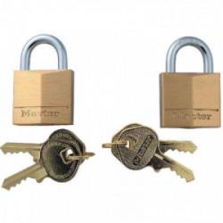 2 cadenas laiton s'entrouvrant 30 mm de marque MASTER LOCK, référence: B3653000